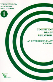 Cognition, Brain, Behavior. An Interdisciplinary Journal (March 2013) - Autori multipli