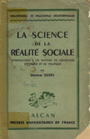 (A) La science de la realite sociale. Introduction a un systeme de sociologie d'ethique et de politique - Demetre Gusti