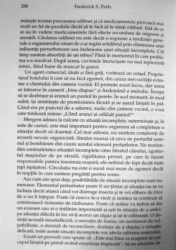 Eul, foamea si agresivitatea - Frederick S. Perls