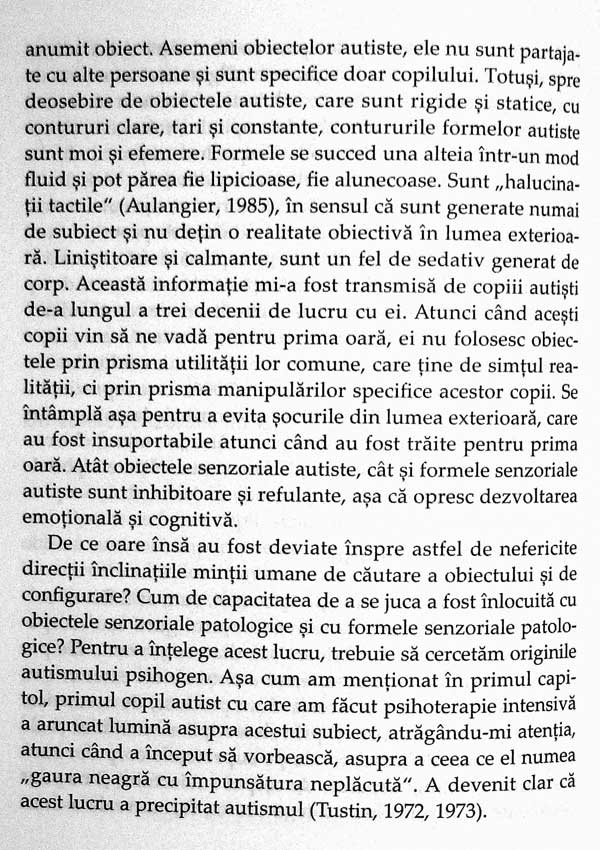 Carapacea protectoare. Functionarea autista la copii si adulti - Frances Tustin