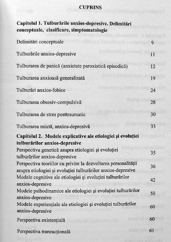 Tulburarile anxios-depresive. Diagnoza experientiala si terapie unificatoare - Iolanda Mitrofan