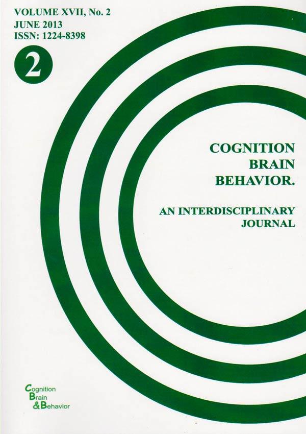 Cognition, Brain, Behavior. An Interdisciplinary Journal (June 2013) - Autori multipli