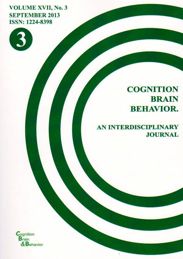 Cognition, Brain, Behavior. An Interdisciplinary Journal (September 2013) - Autori multipli