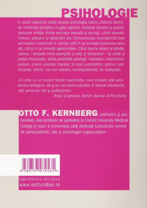 Relatii de iubire. Normalitate si patologie - Otto F. Kernberg