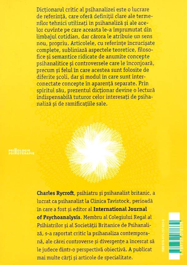 Dictionarul critic de psihanaliza - Charles Rycroft