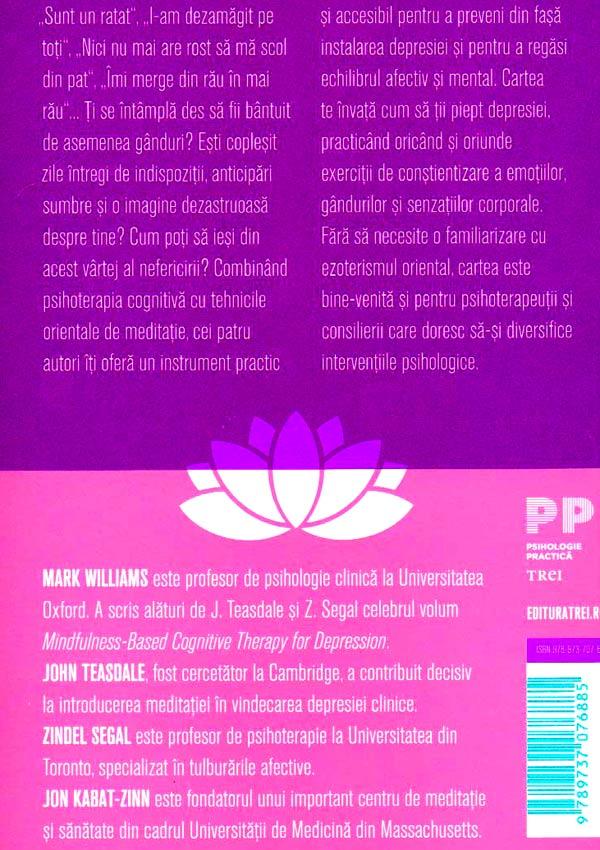 Exercitii de meditatie pentru depasirea depresiei - Mark Williams