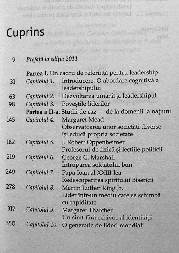 Minti conducatoare. Istorii de viata ale liderilor mondiali - Howard Gardner