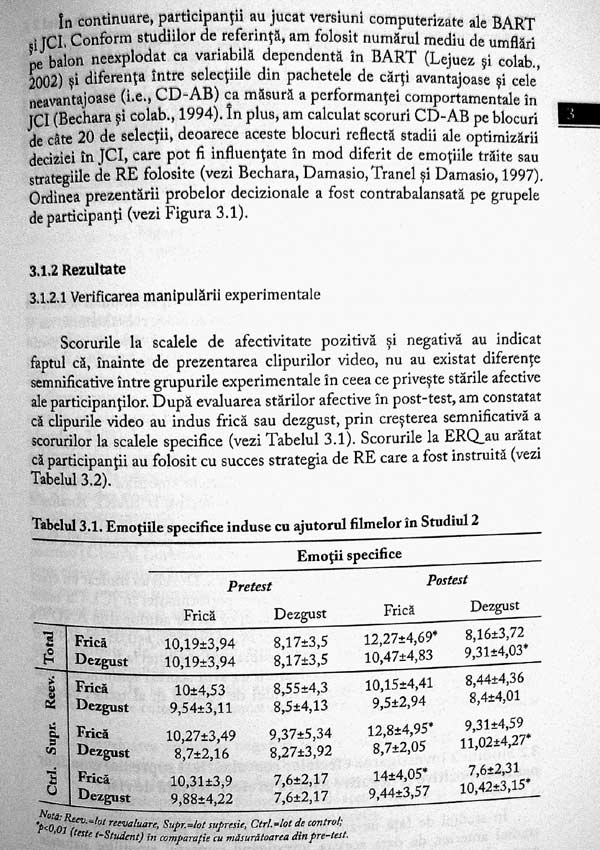Diferente individuale in emotie si decizie. Implicatii pentru psihologia economica - Renata Melinda Heilman