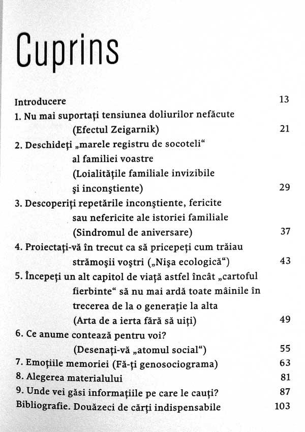 Exercitii practice de psihogenealogie - Anne Ancelin Schutzenberger