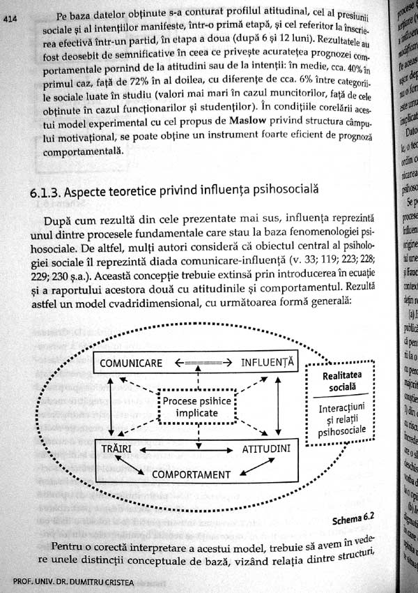 Tratat de psihologie sociala - Dumitru Cristea