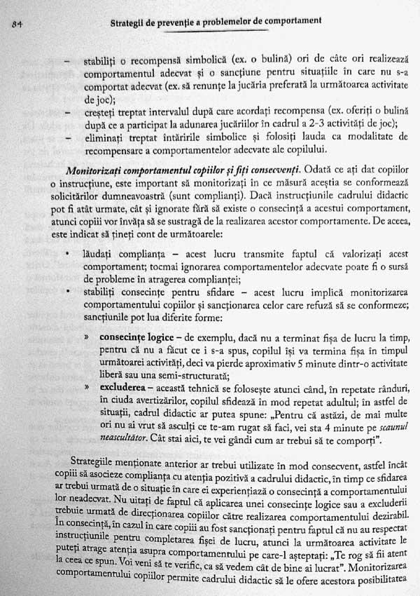 Strategii de preventie a problemelor de comportament - Oana Benga