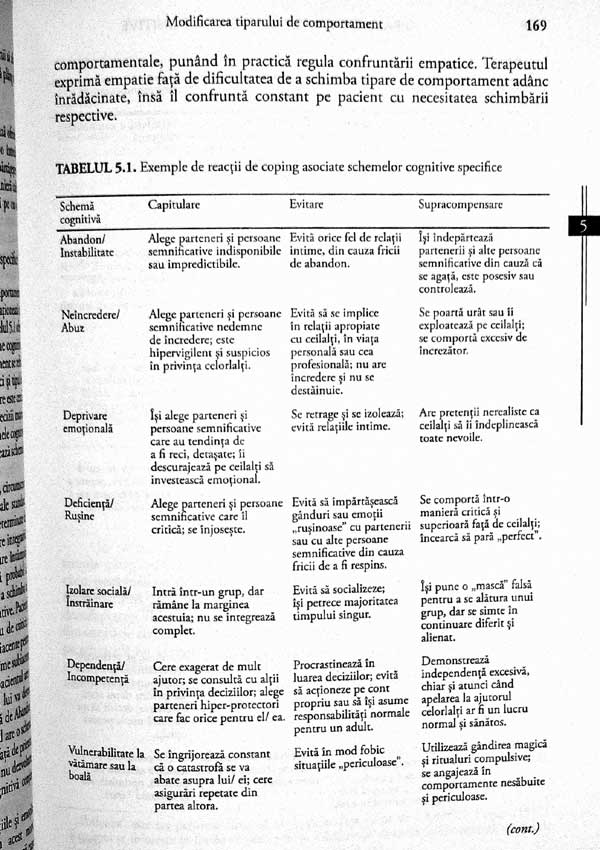 Terapia centrata pe scheme cognitive. Manualul practicianului - Jeffrey E. Young
