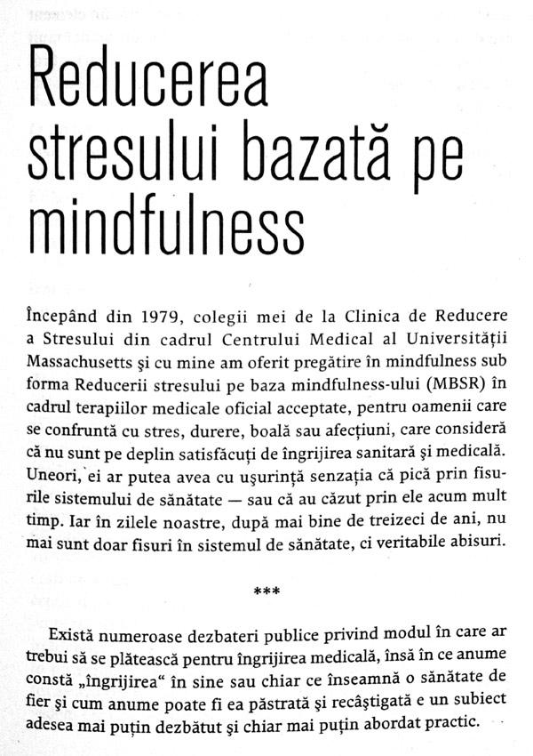 Mindfulness pentru incepatori - Jon Kabat-Zinn