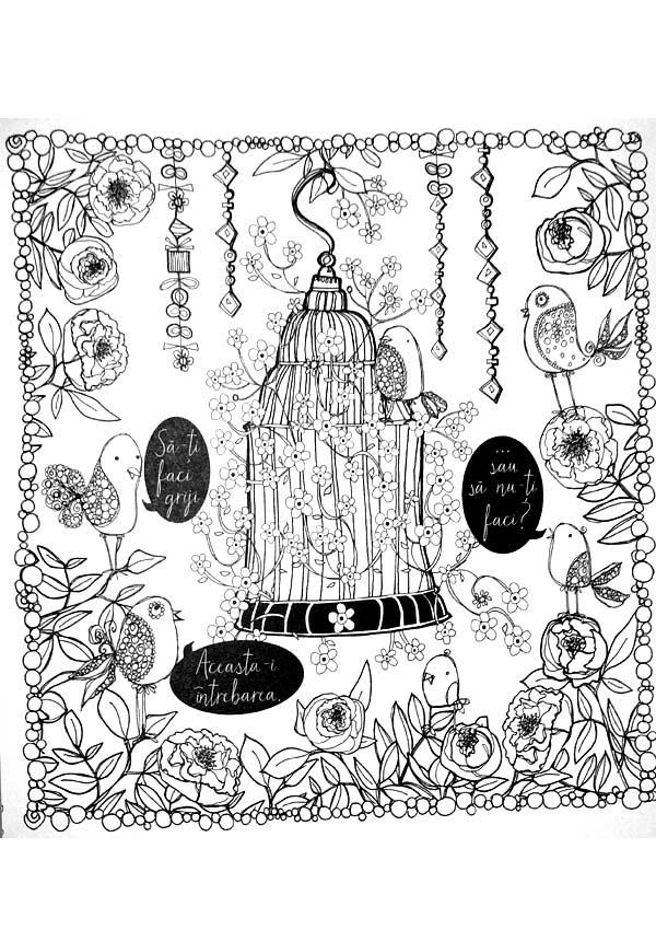 Sa ne imprietenim cu anxietatea. O carte de colorat linistitoare - Sarah Rayner