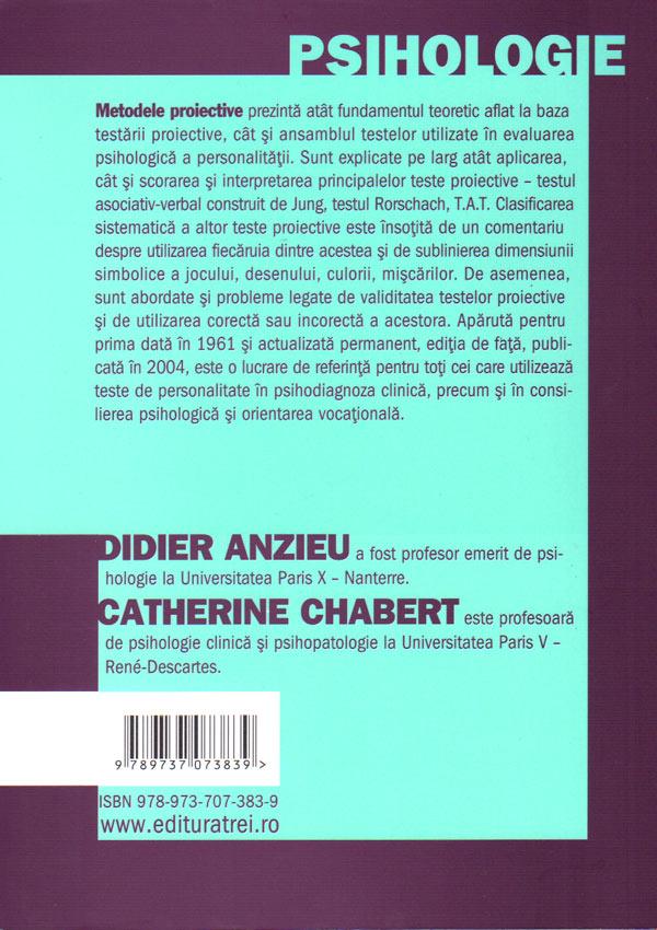 Metodele proiective - Didier Anzieu