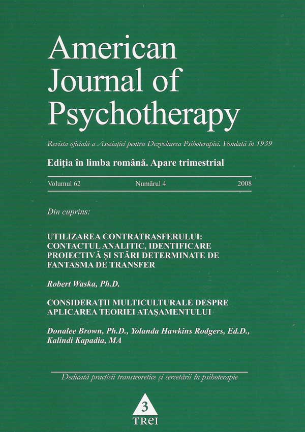 American Journal of Psychotherapy nr. 4/2008 - Autori multipli