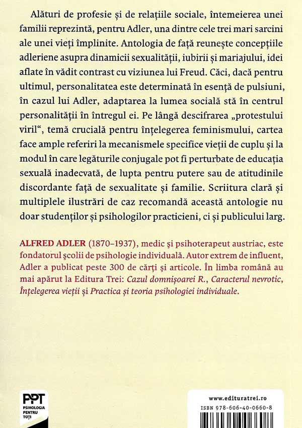 Cooperarea intre sexe. Despre femei, iubire si casatorie - Alfred Adler