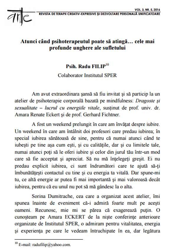 ARTE. Revista de terapii creativ-expresive si dezvoltare personala unificatoare (nr. 5) - Autori multipli