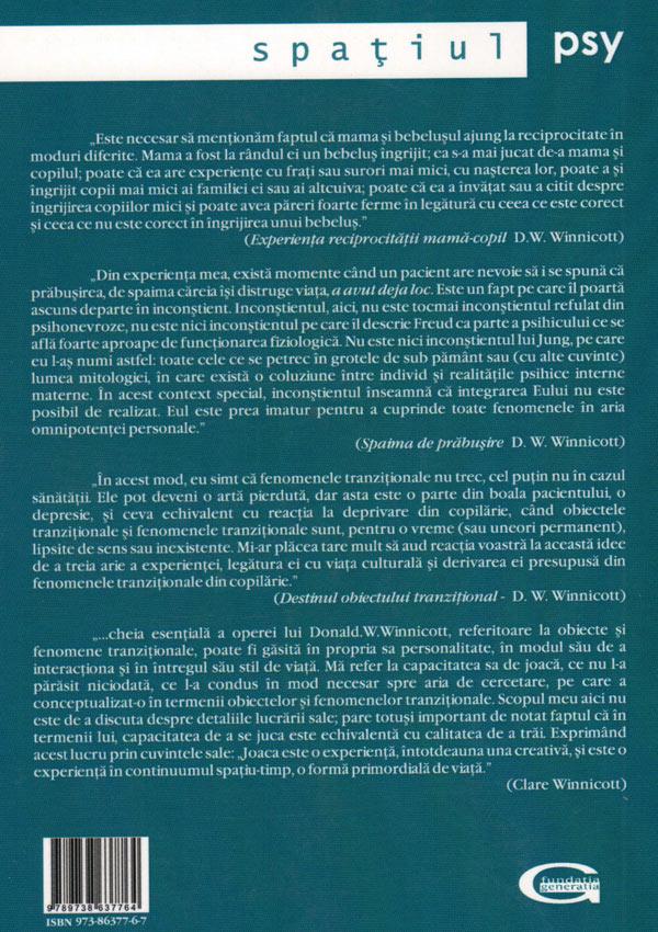 Spaima de prabusire: explorari psihanalitice - Donald Woods Winnicott
