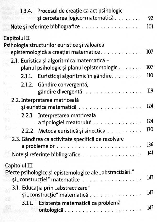 Psihologia si epistemologia creatiei matematice - Aurel Pera