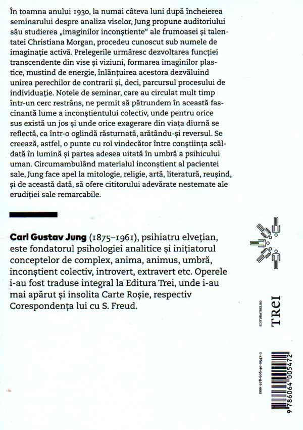 Viziuni. Note ale seminarului sustinut intre 1930 si 1934 de C.G. Jung (vol. 1) - Carl Gustav Jung