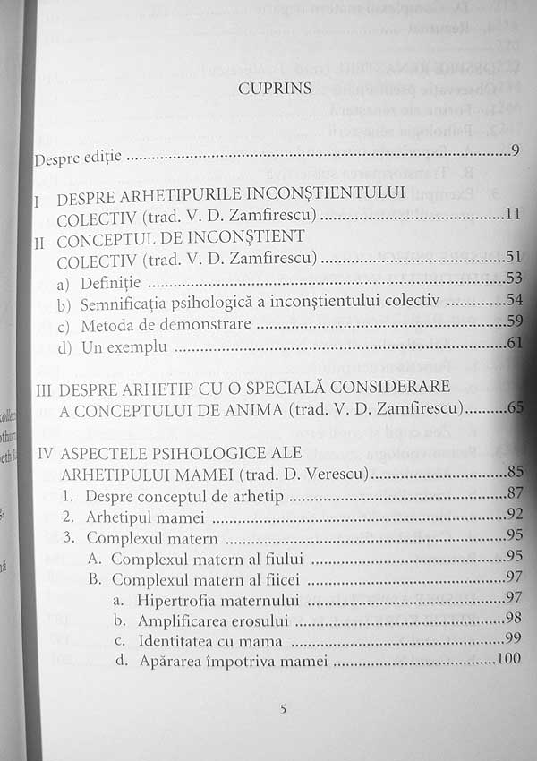 Arhetipurile si inconstientul colectiv. Opere complete (vol. 1) - Carl Gustav Jung