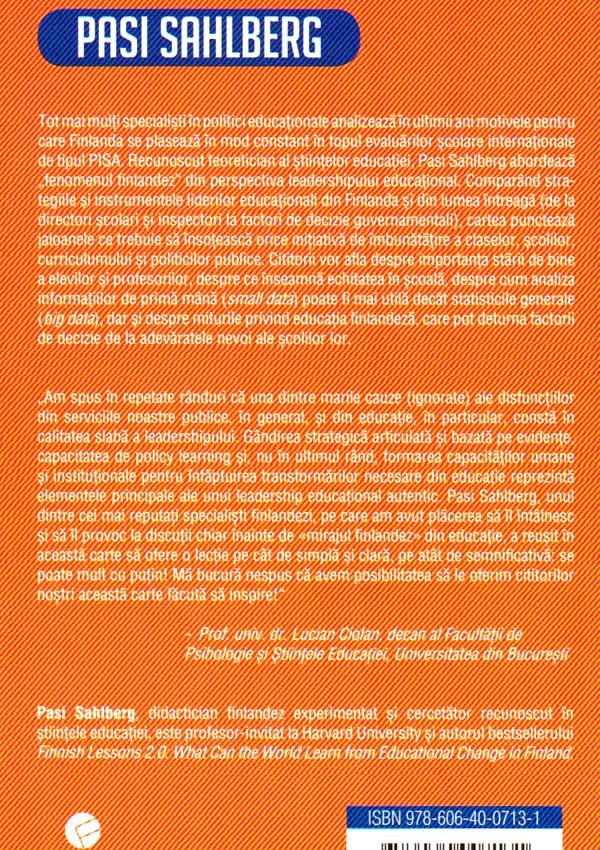 Leadership educational: modelul finlandez - Pasi Sahlberg