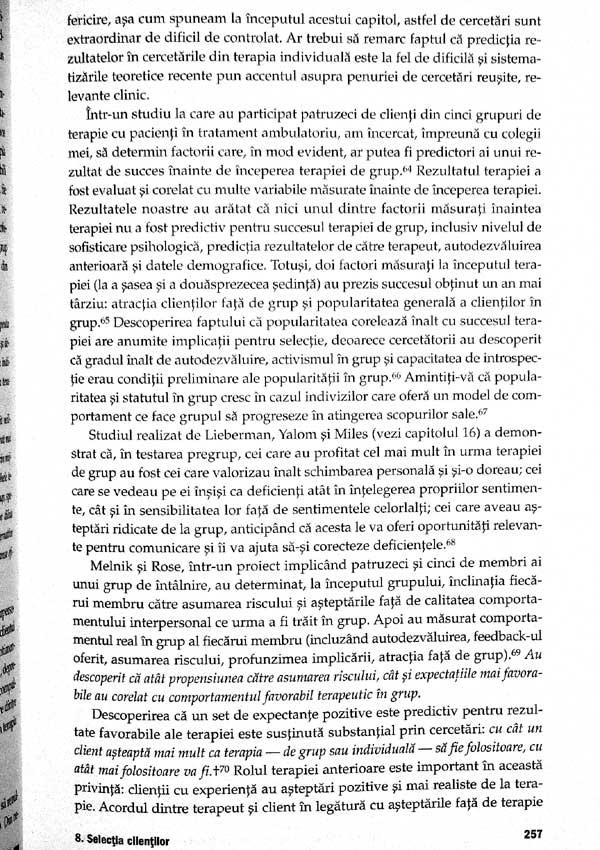 Tratat de psihoterapie de grup. Teorie si practica - Irvin D. Yalom