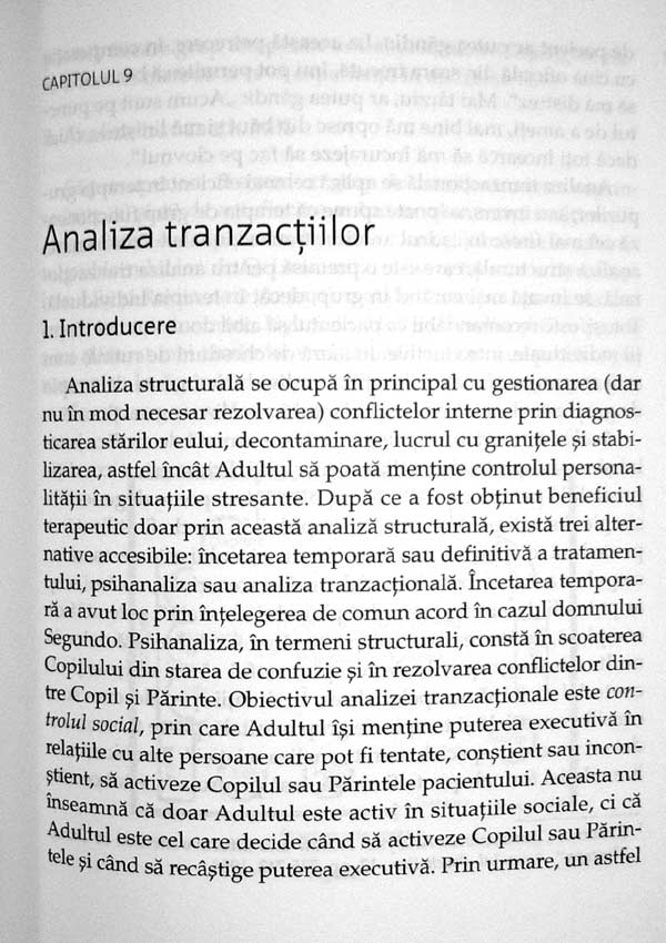 Analiza tranzactionala in psihoterapie - Eric Berne