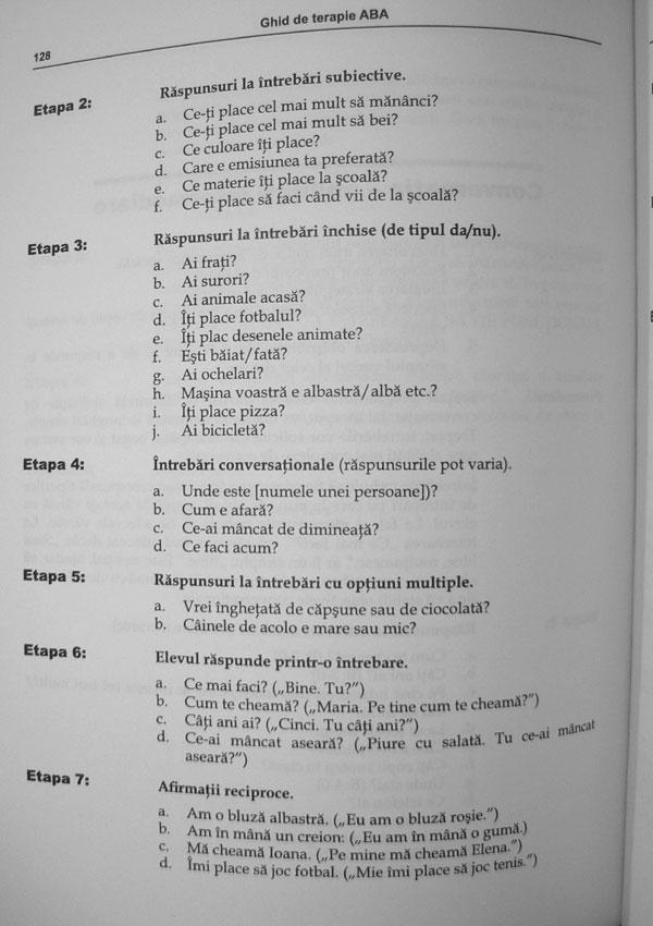 Ghid de terapie ABA. Partea a II-a: Programe de lucru - Ronald Leaf