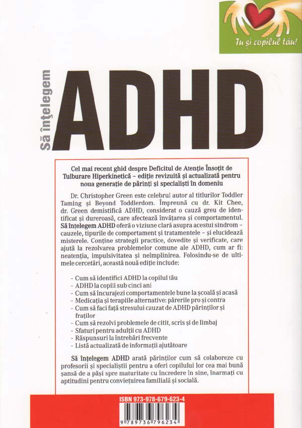 Sa intelegem ADHD (Deficitul de atentie insotit de tulburare hiperkinetica) - Christopher Green