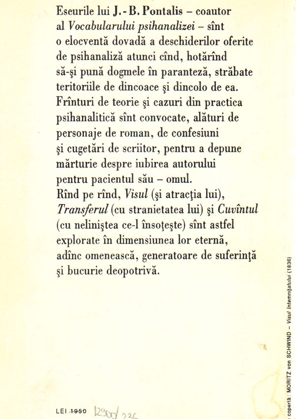 Atractia visului. Dincolo de psihanaliza - J.-B. Pontalis