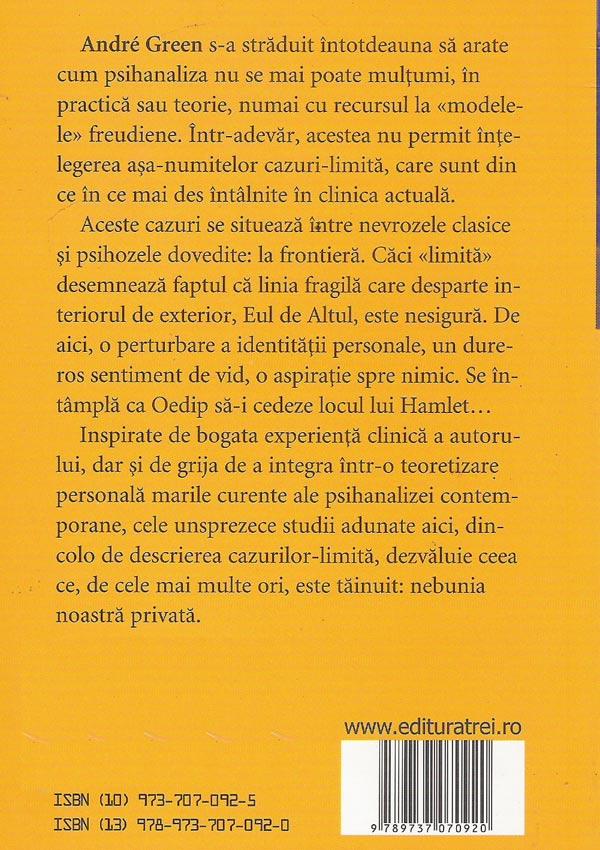 Psihanaliza cazurilor-limita - Andre Green