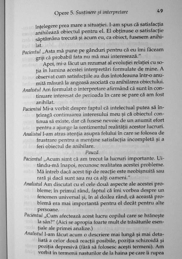 Sustinere si interpretare. Fragment de analiza. Opere (vol. 5) - Donald Woods Winnicott
