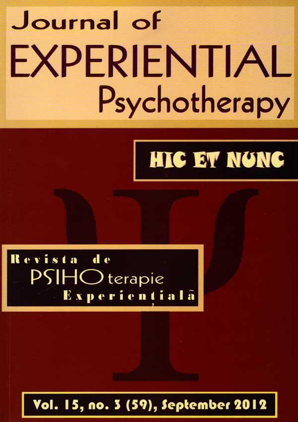 Revista de psihoterapie experientiala (Nr. 3, Septembrie 2012) - Autori multipli
