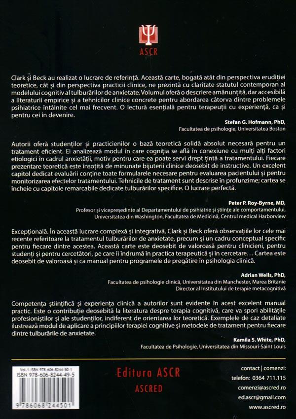 Terapia cognitiva a tulburarilor de anxietate. Stiinta si practica (doua volume) - Aaron T. Beck